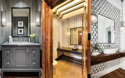 Northern Michigan Home Ideas for Creative Powder Rooms