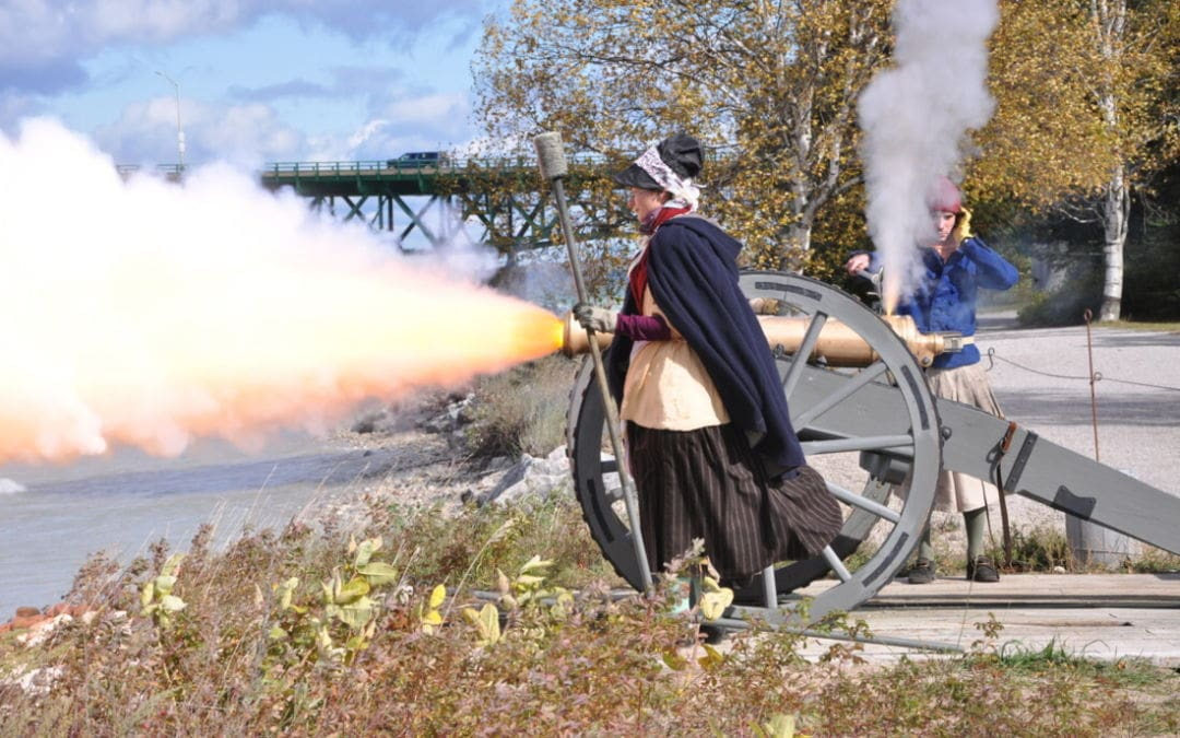 Fire Historic Guns Across the Straits at Colonial Michilimackinac