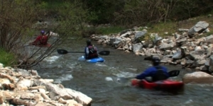 Kayaking Whitewater Park in Petoskey