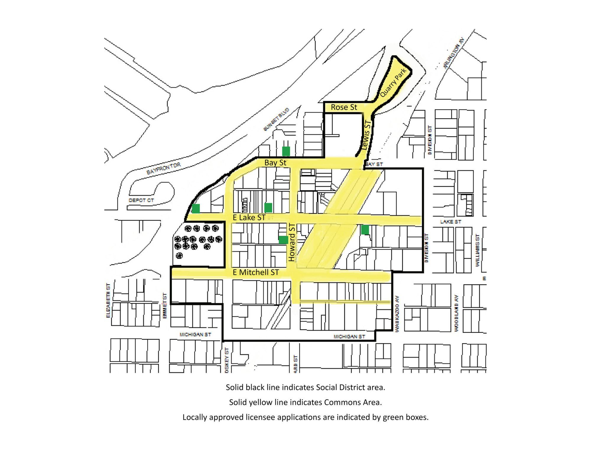 Petoskey Social District Map
