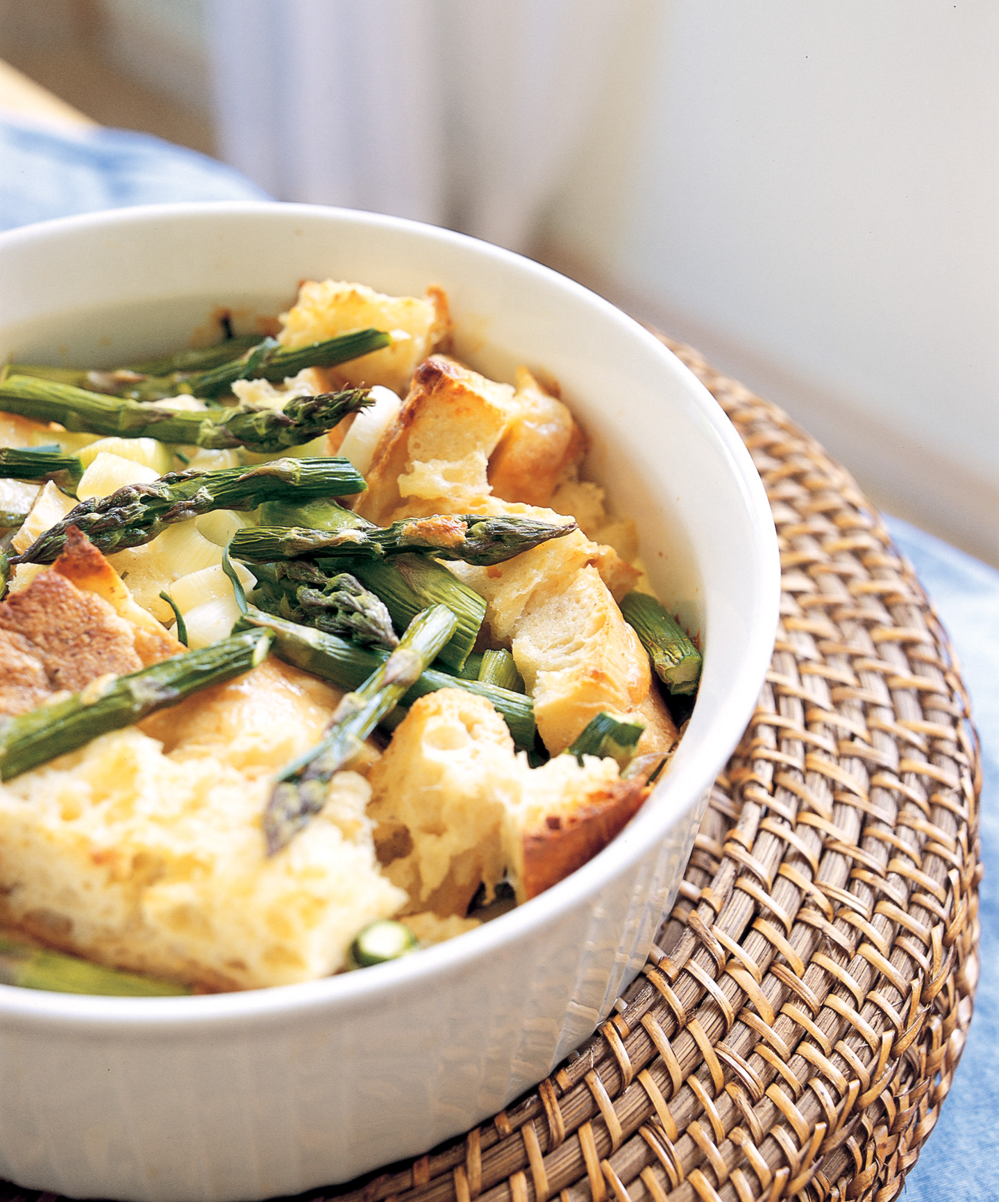 Bread Pudding with Asparagus