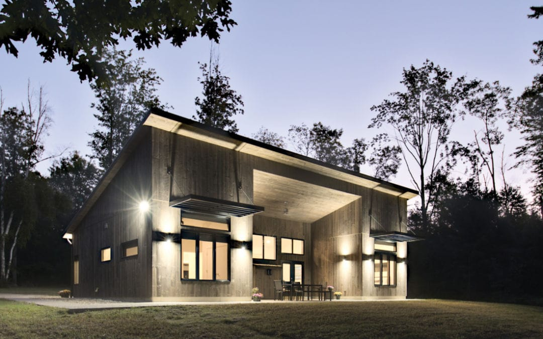 Betsie River Cabin Turns Heads with Modern-Rustic Design
