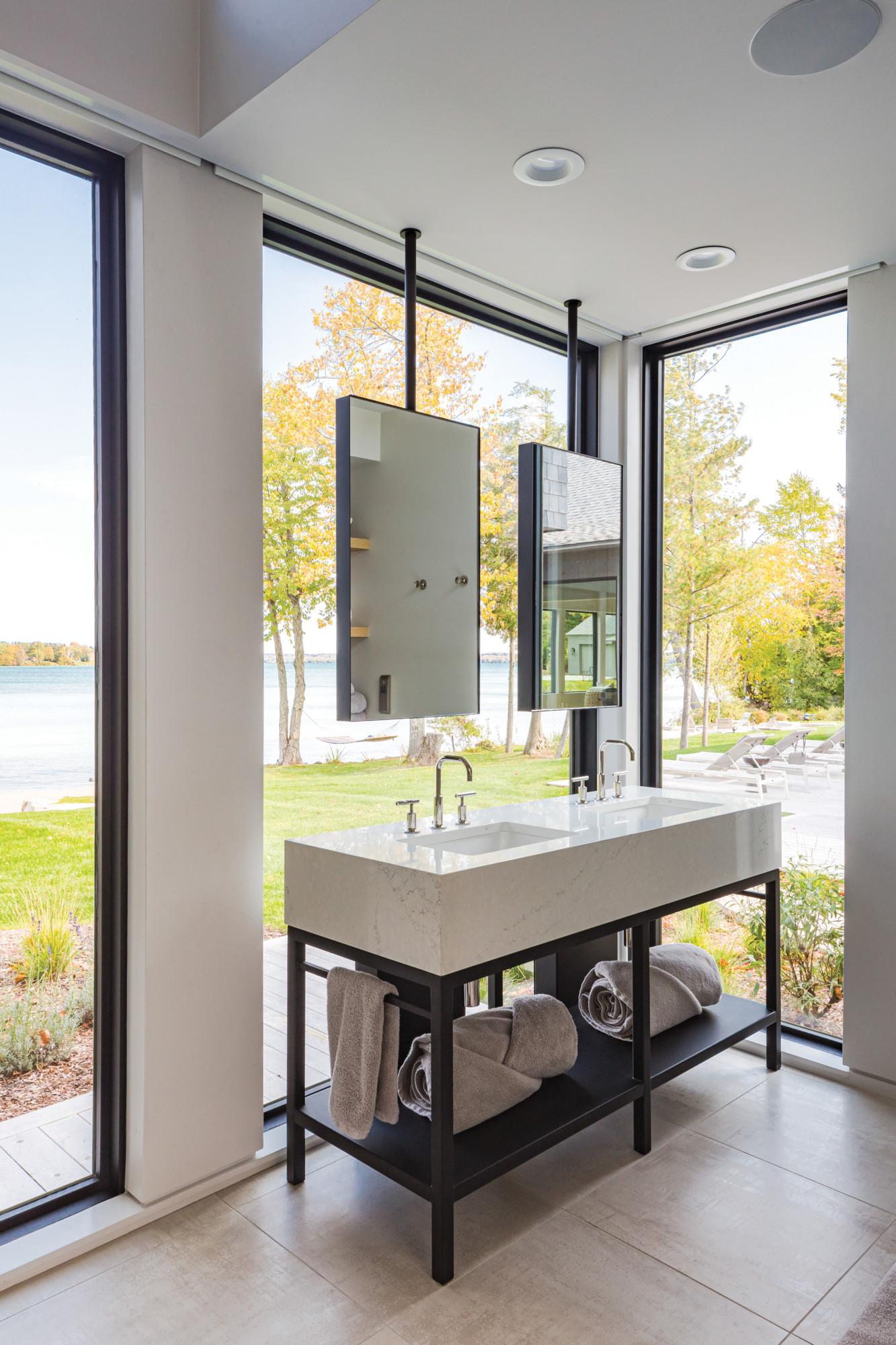 Bathroom of a Northern Michigan cottage.