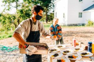 Loghan Call, Plant Cuisine, pop up dinner, leelanau county, organic
