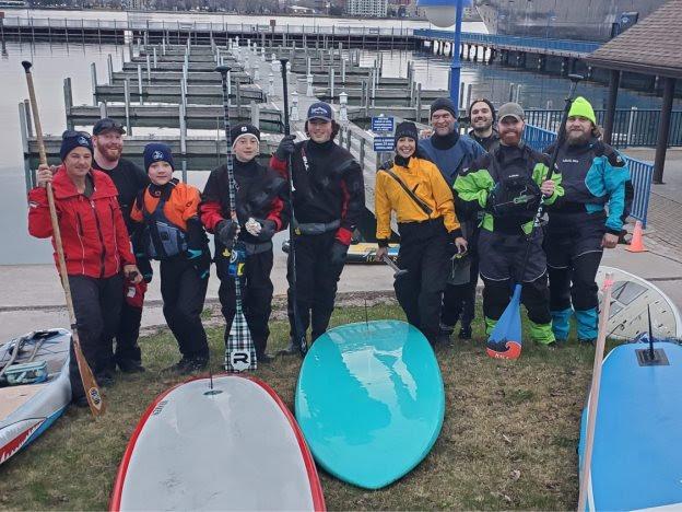 8th Graders paddling in the upper peninsula.