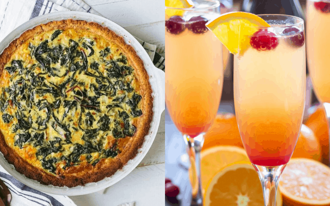Quiche and a mimosa from Black Star Farms.