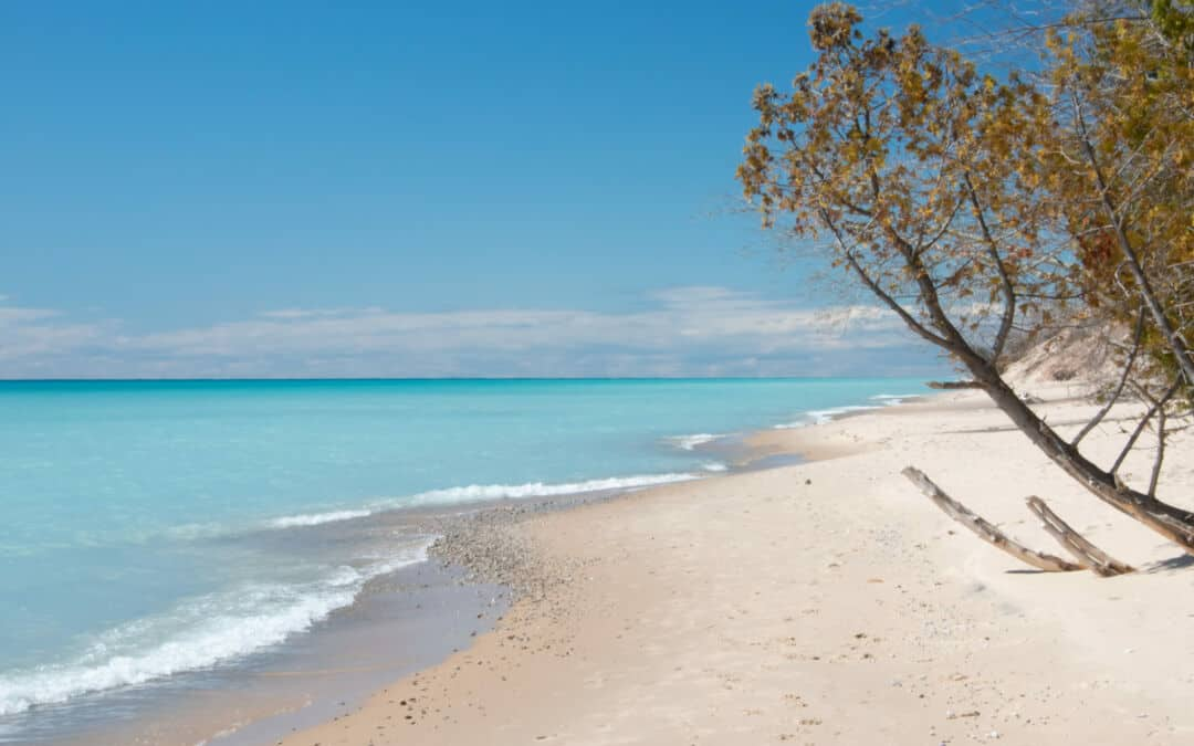 Frankfort or Fiji? Spring Turquoise Waters at Frankfort Beach.