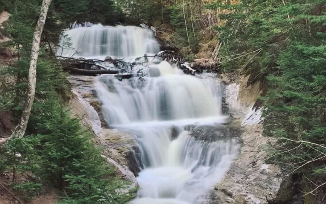As Springtime View at Sable Falls in the Upper Peninsula