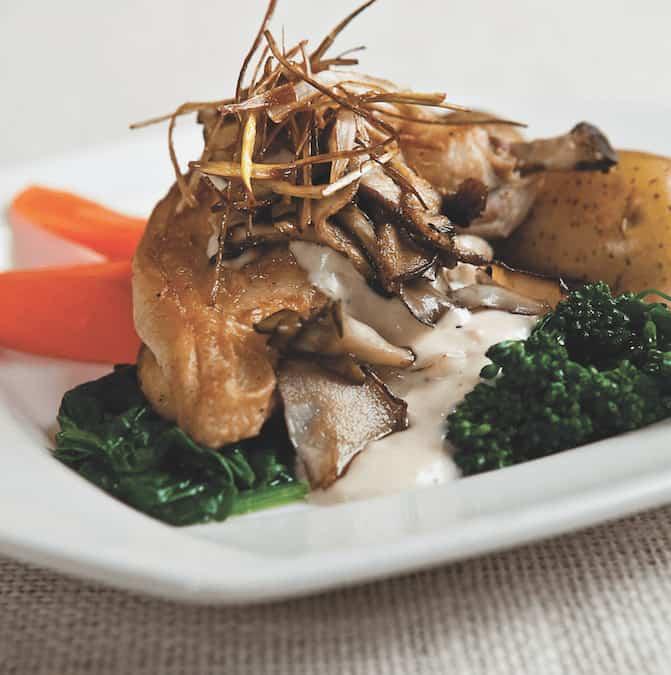 chicken and wild mushrooms