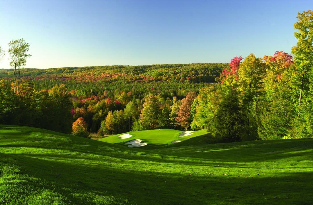 treetops golf course, gaylord, golfing
