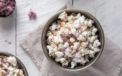 Celebrate Summer with this Stovetop Chive Blossom Popcorn