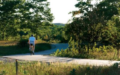 Biking Sleeping Bear Heritage Trail from Empire to Glen Arbor