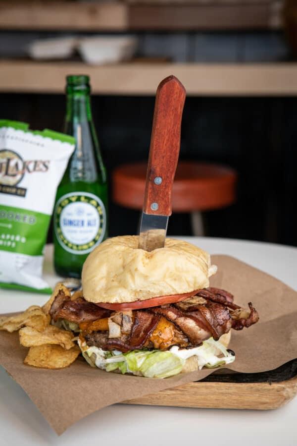 Oakwood Proper Burgers in Traverse City.