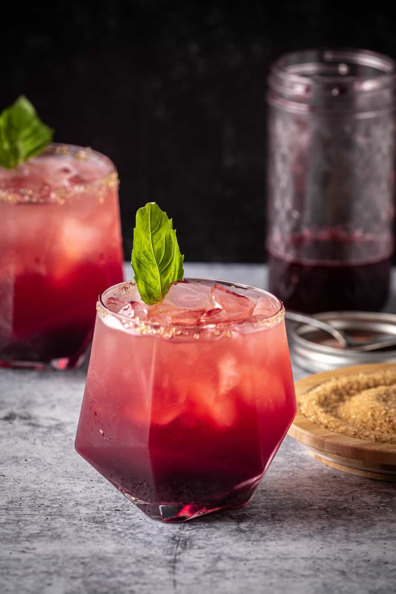 Black Raspberry Shrub cocktail.