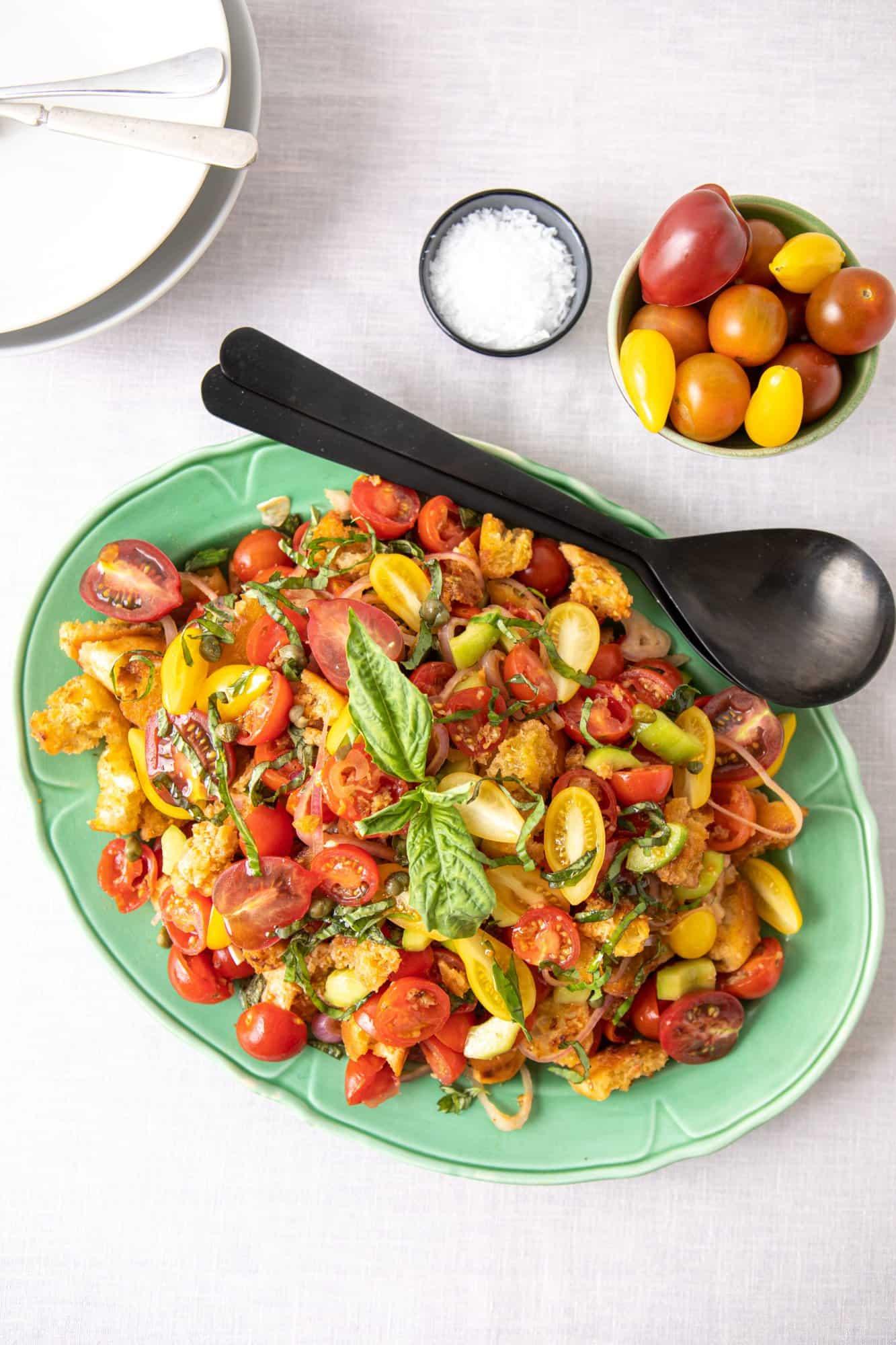 Panzanella Salad by Stacey Brugeman.