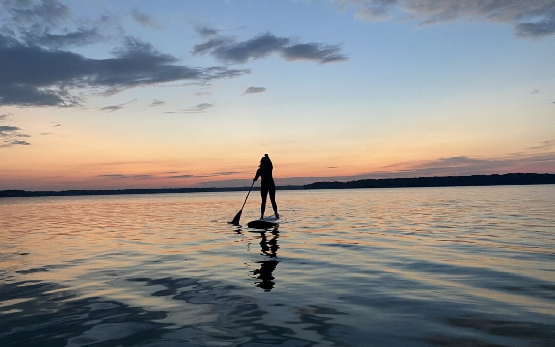 A Loon, a SUP and a Northern Michigan Paddling Near Miss