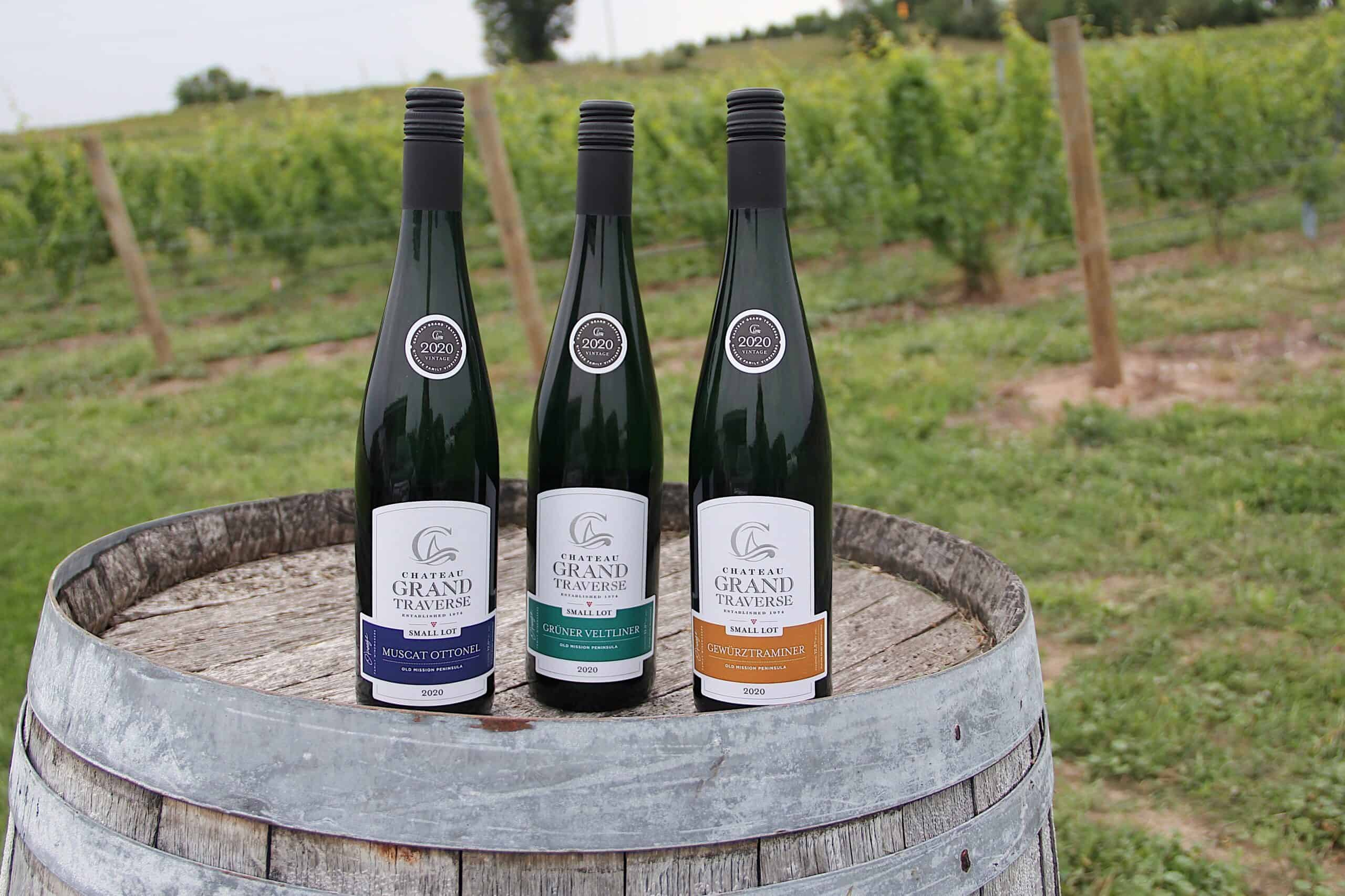 Outdoors shot of Chateau Grand Traverse wines.