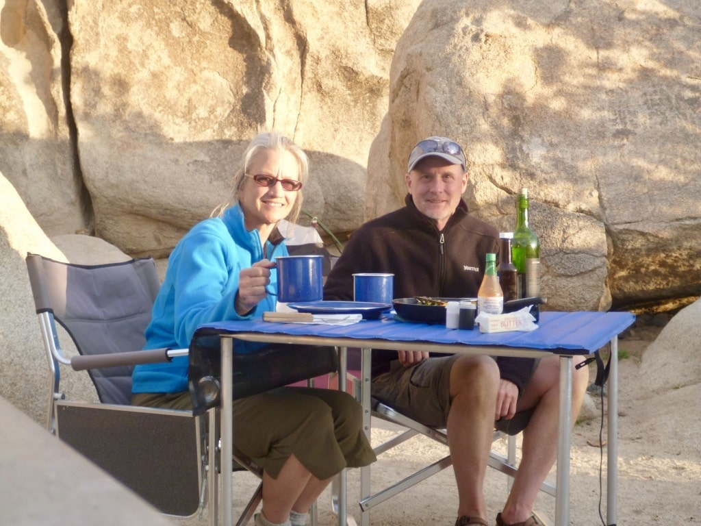 Nikki and Tim McClure camping