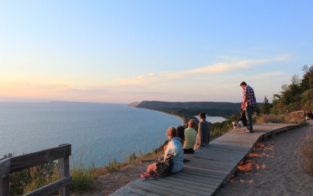 The view from Sleeping Bear Dunes.