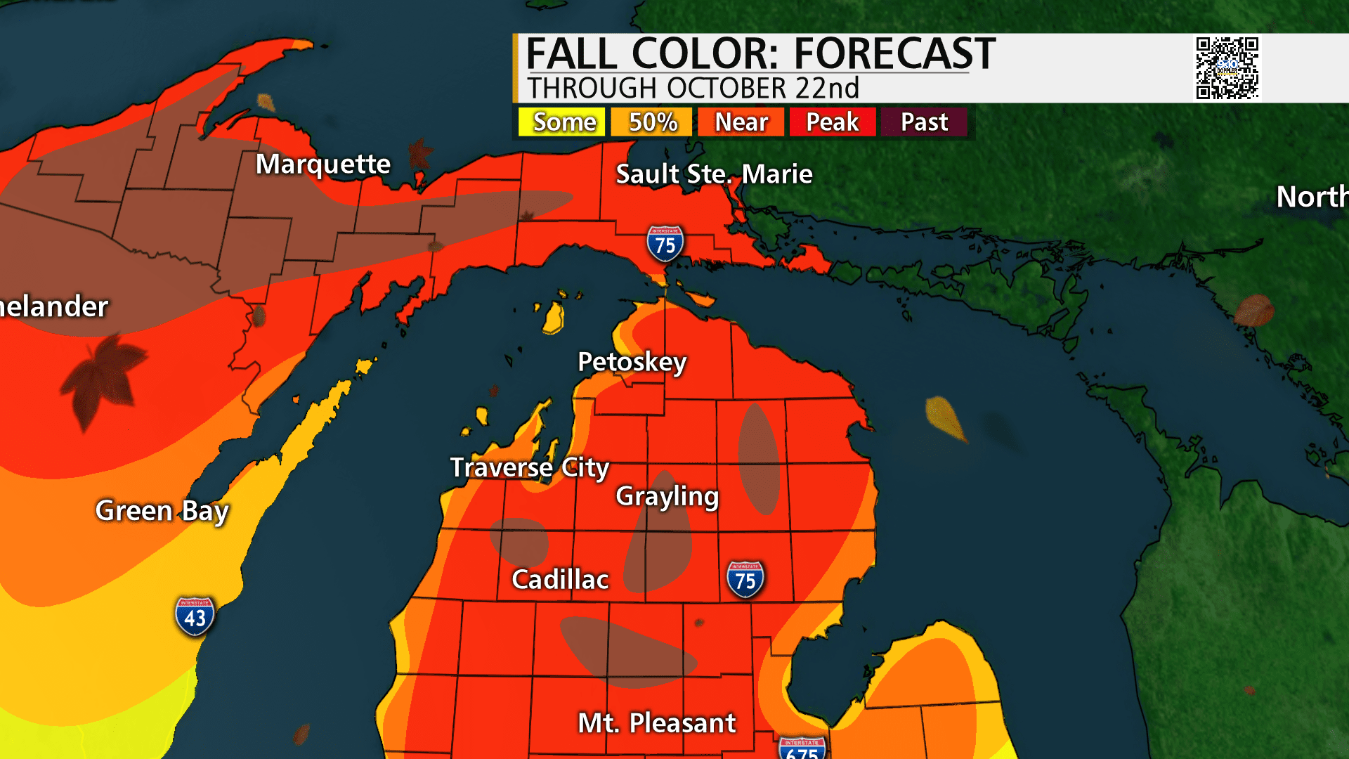 Fall color map starting October 14