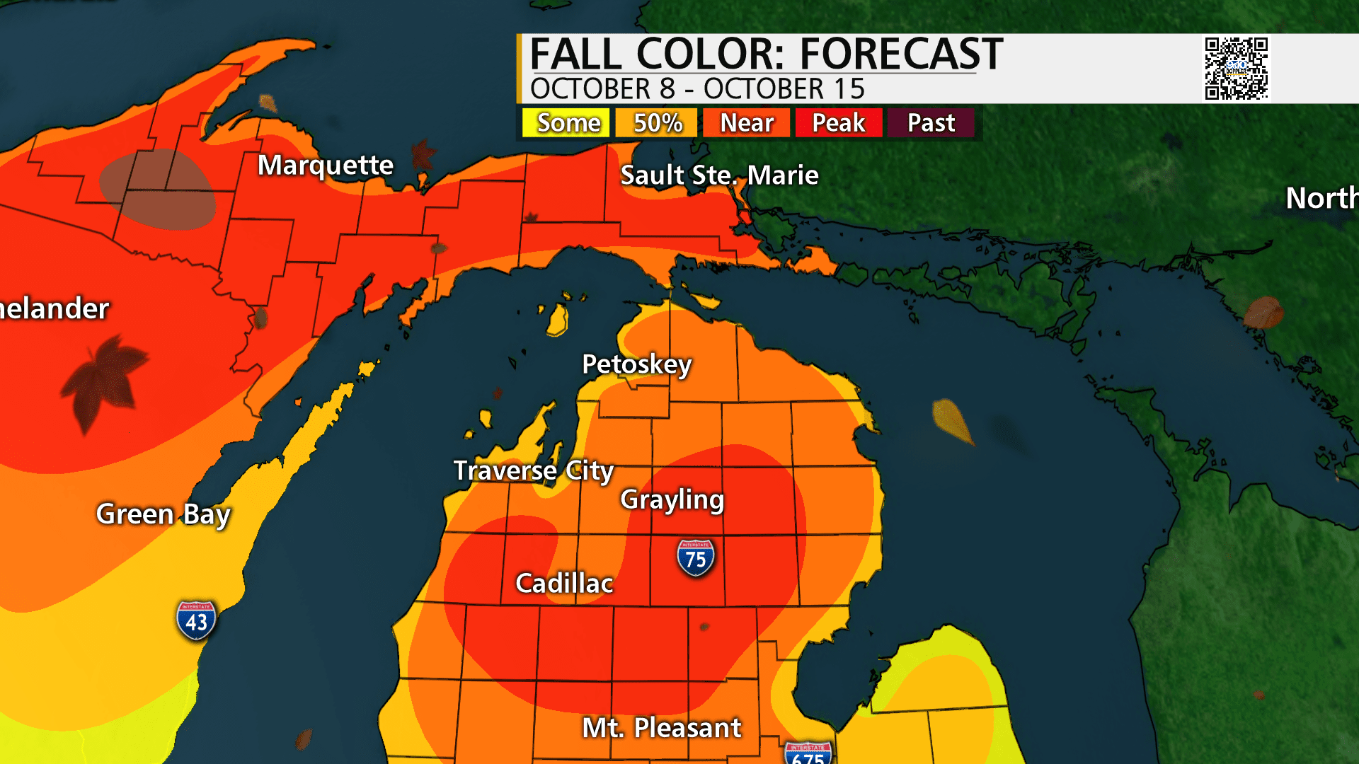 October Fall Color Map