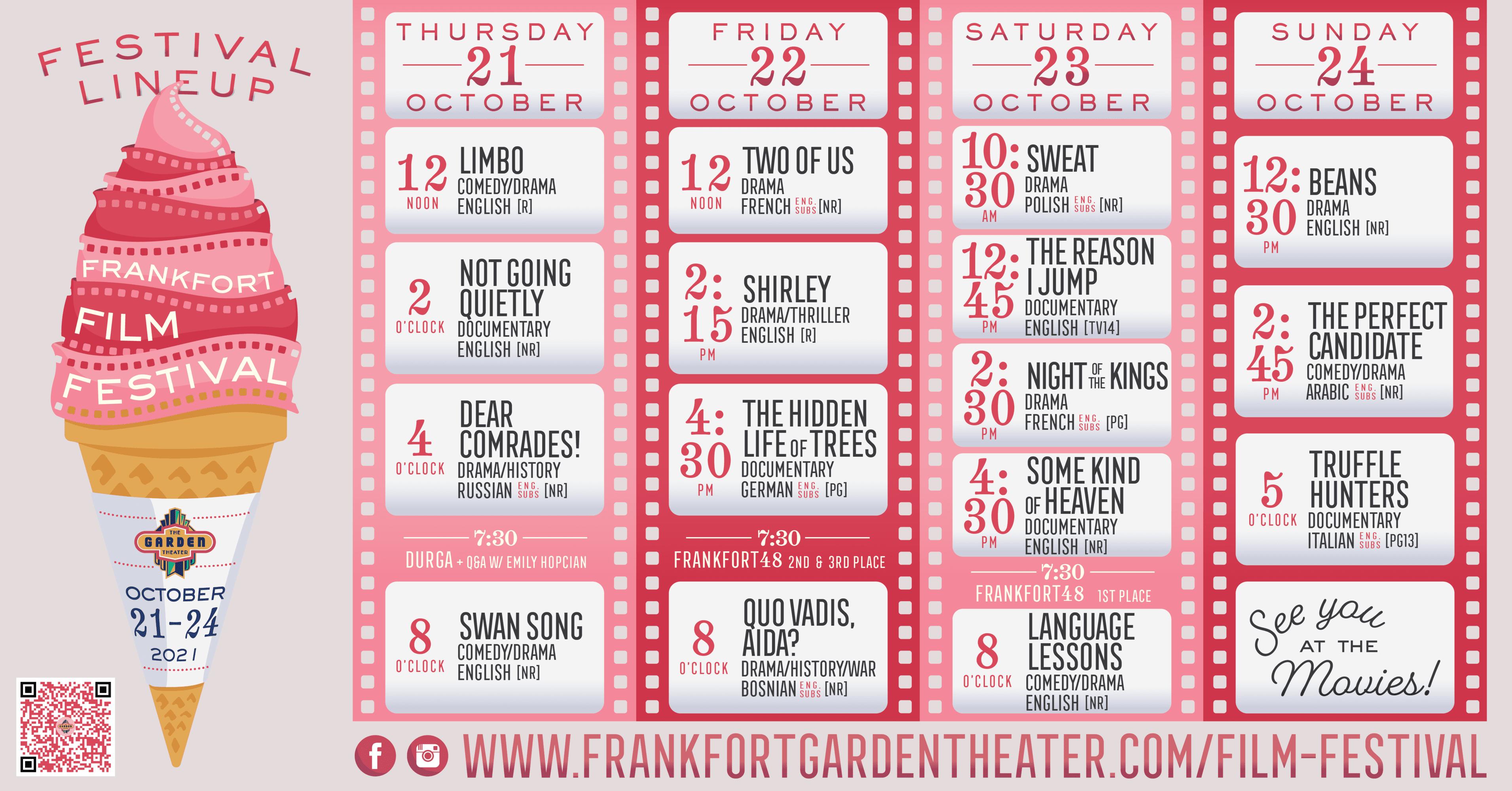 Frankfort Film Festival Lineup