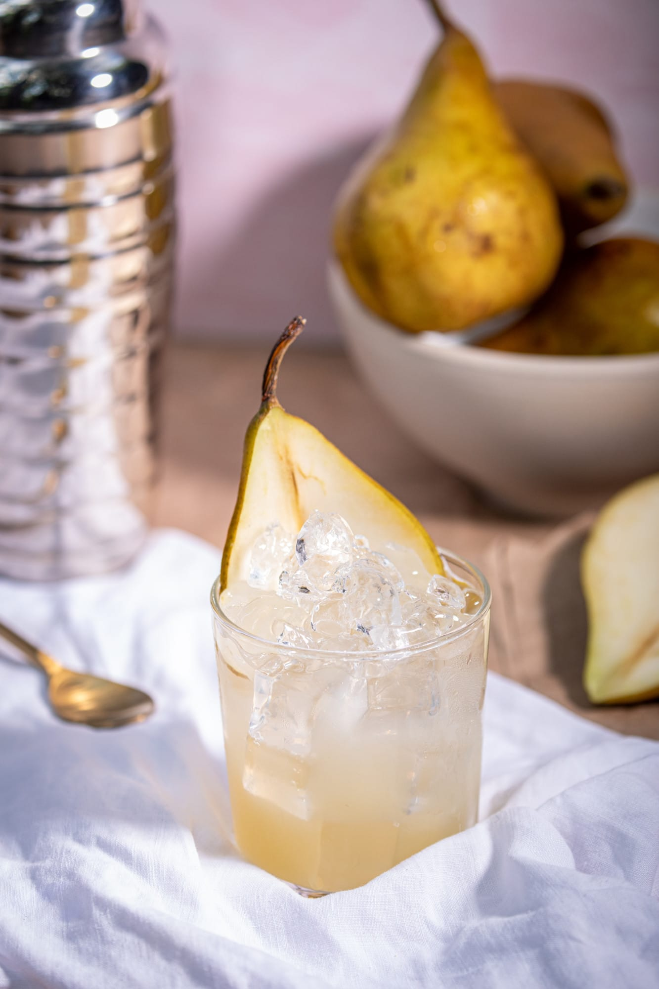Cocktail with pear