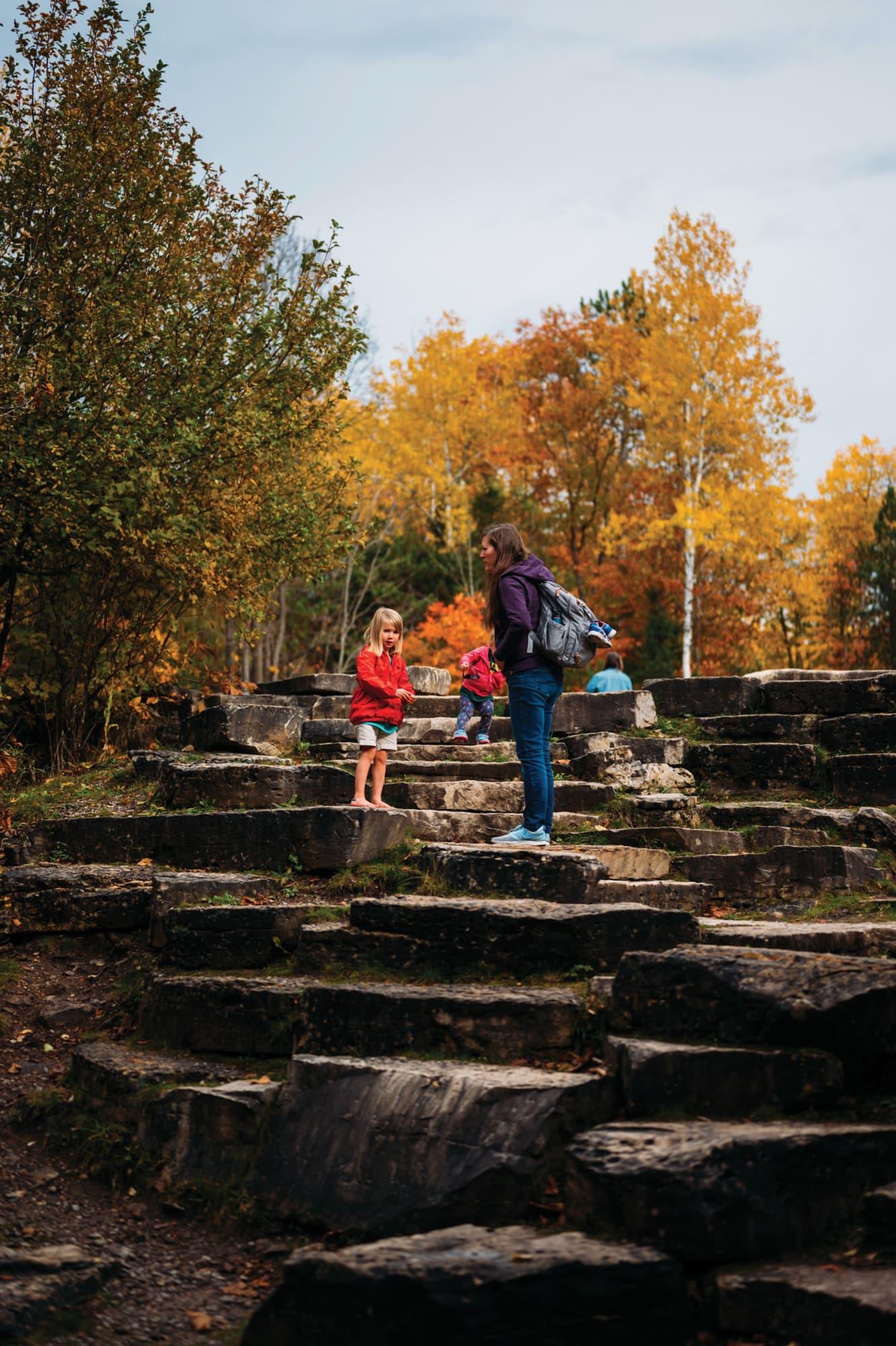 Fall color road trip from Petoskey to Cheboygan, Michigan